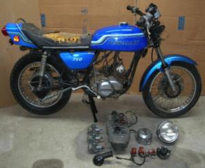 vintage, motorcycle, garage, refurbish, classic